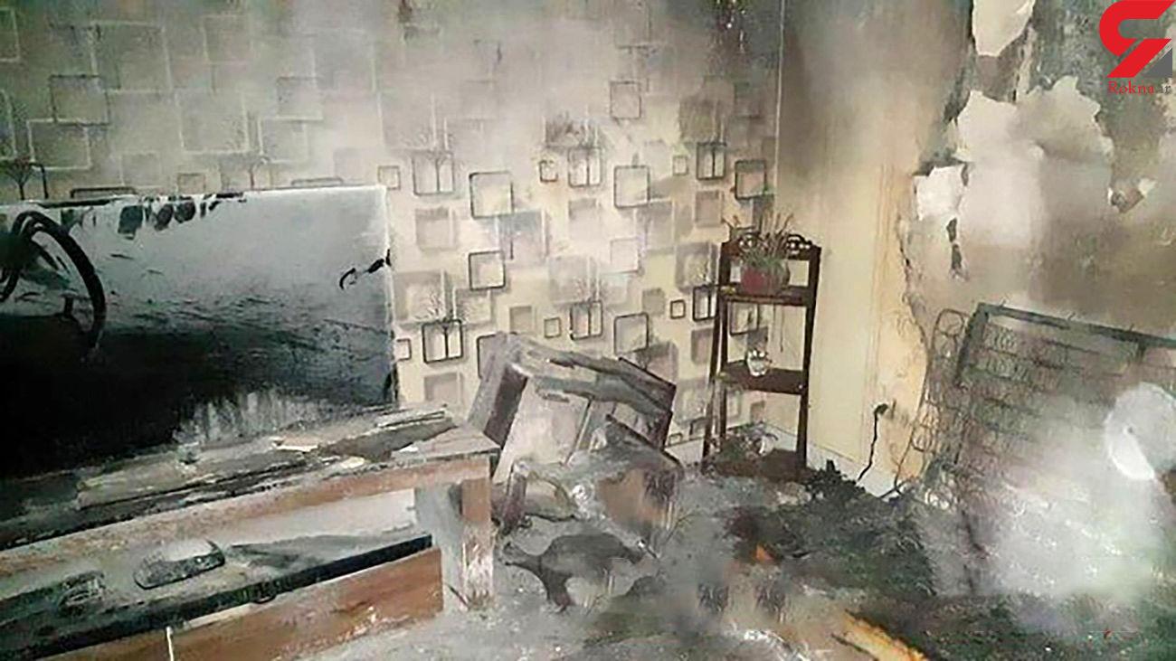 آتش سوزی ساختمان مسکونی در کوی ولی امر تبریز
