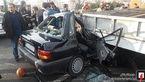 لحظه متلاشی شدن پراید 2 زن در بزرگراه ستاری + عکس های عجیب