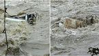 تصویر وحشتناک از سقوط پراید با 4 سرنشینبه داخل رودخانه رودبار فومن+ عکس