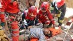 نجات کارگر ساختمانی در عمق چاه در مشهد