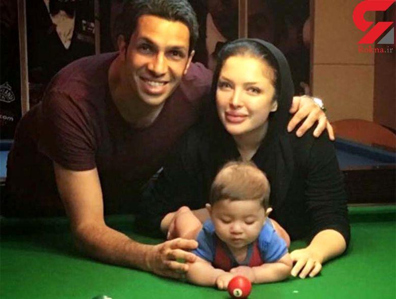 تازه ترین عکس جنجالی فوتبالیست ایرانی با همسرش+ تصویر