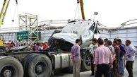 تصادف مرگبار تریلی با 2 نیسان در کاشان / 4 تن در دم جان باختند + عکس