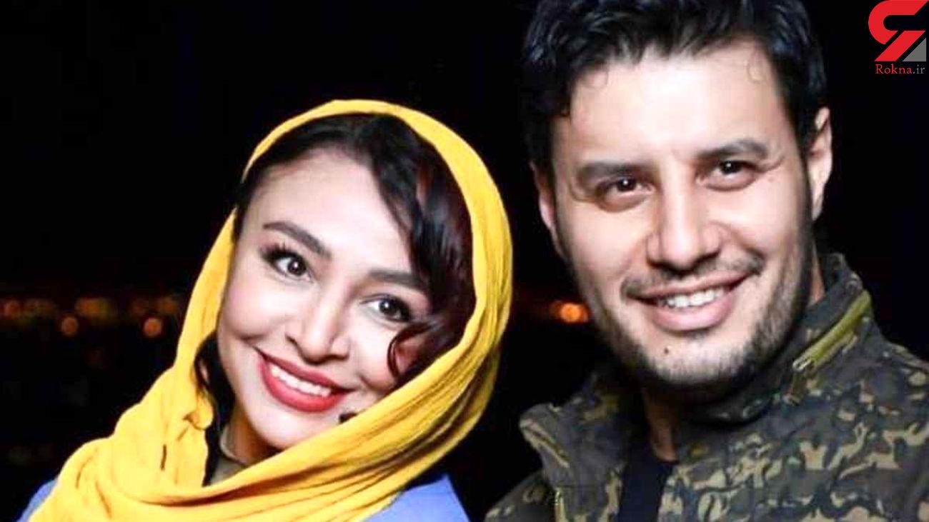 لباس حاشیه ساز همسر جواد عزتی + داستان آشنایی با مه لقا !