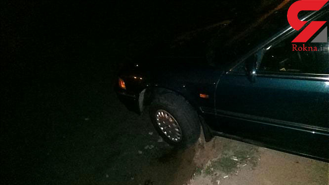 مهار خودروی سواری معلق از لبه دره در شمال غرب تهران