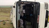 واژگونی اتوبوس حامل مسافران پاکستانی در گرمسار 3 مصدوم داشت
