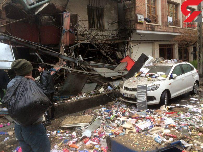 انفجار سوپر مارکت در خیابان میرداماد ظهر چهارم عید +عکس