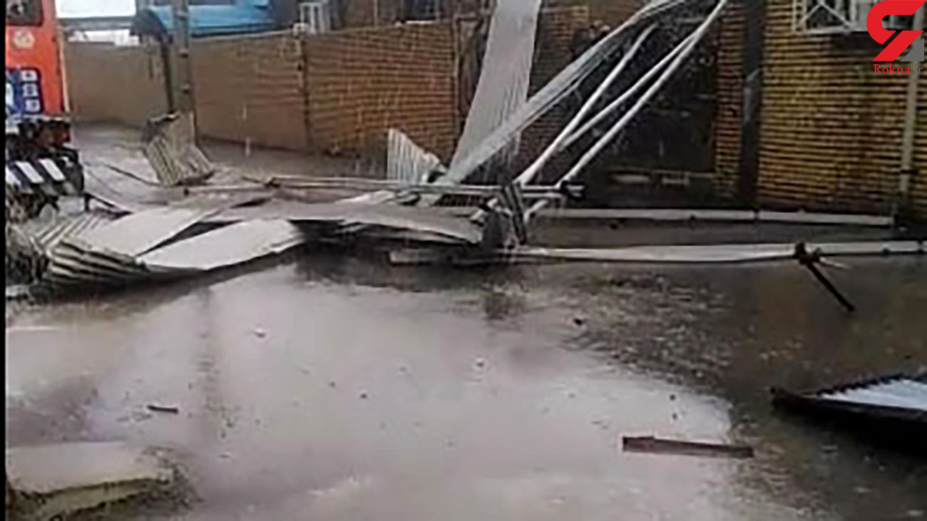 بارش باران وحشتناک در دهلران + فیلم