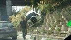 پرادو در بزرگراه امام علی تهران پرواز کرد! + عکس