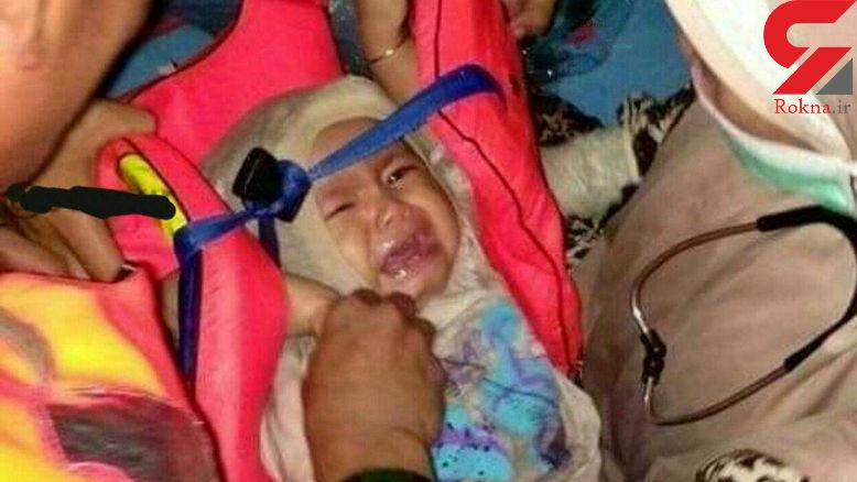این نوزاد  تنها نجات یافته هواپیمای مرگ / 3 روز بعد روی آب پیدا شد+عکس