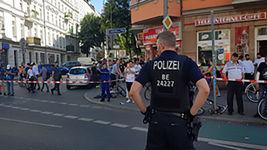 هجوم سارقان مسلح به بانک برلین / مامور حفاظت زخمی شد