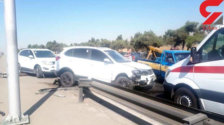 تشنج راننده تهرانی در اتوبان فاجعه بار شد +تصاویر