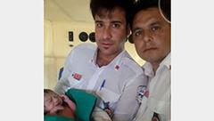 نوزاد عجول در آمبولانس متولد شد + عکس