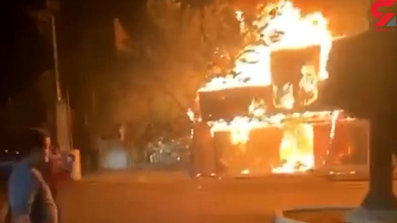 گلفروشی در آتش سوخت +عکس و فیلم