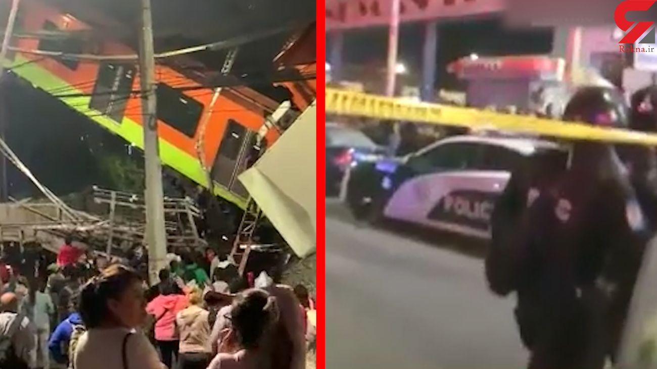 فیلم لحظه سقوط مرگبار پل روگذر مترو / 70 کشته + عکس ها / مکزیک