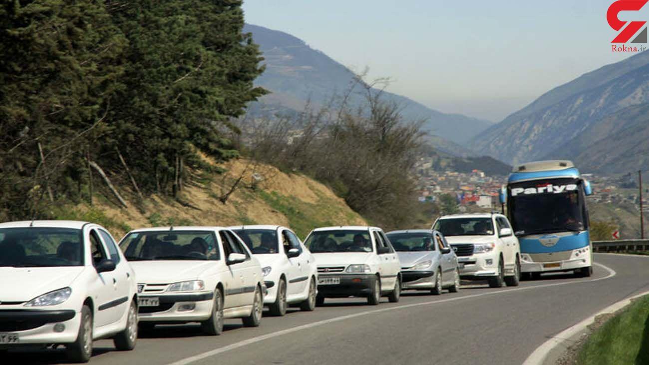روزهای پایانی هفته بار ترافیکی جاده ها زیاد است