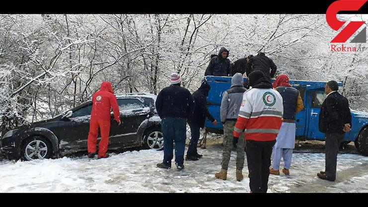 امداد رسانی به ۷۵ در راه مانده برف و کولاک گلستان