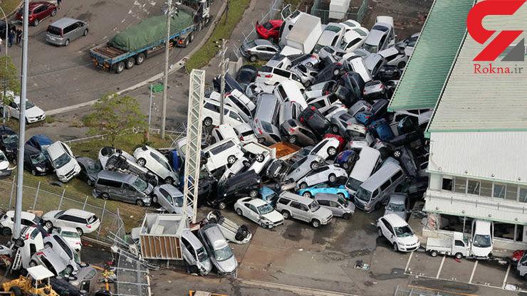 تصویری هولناک از توفان ۲۰۰ کیلومتری در ژاپن