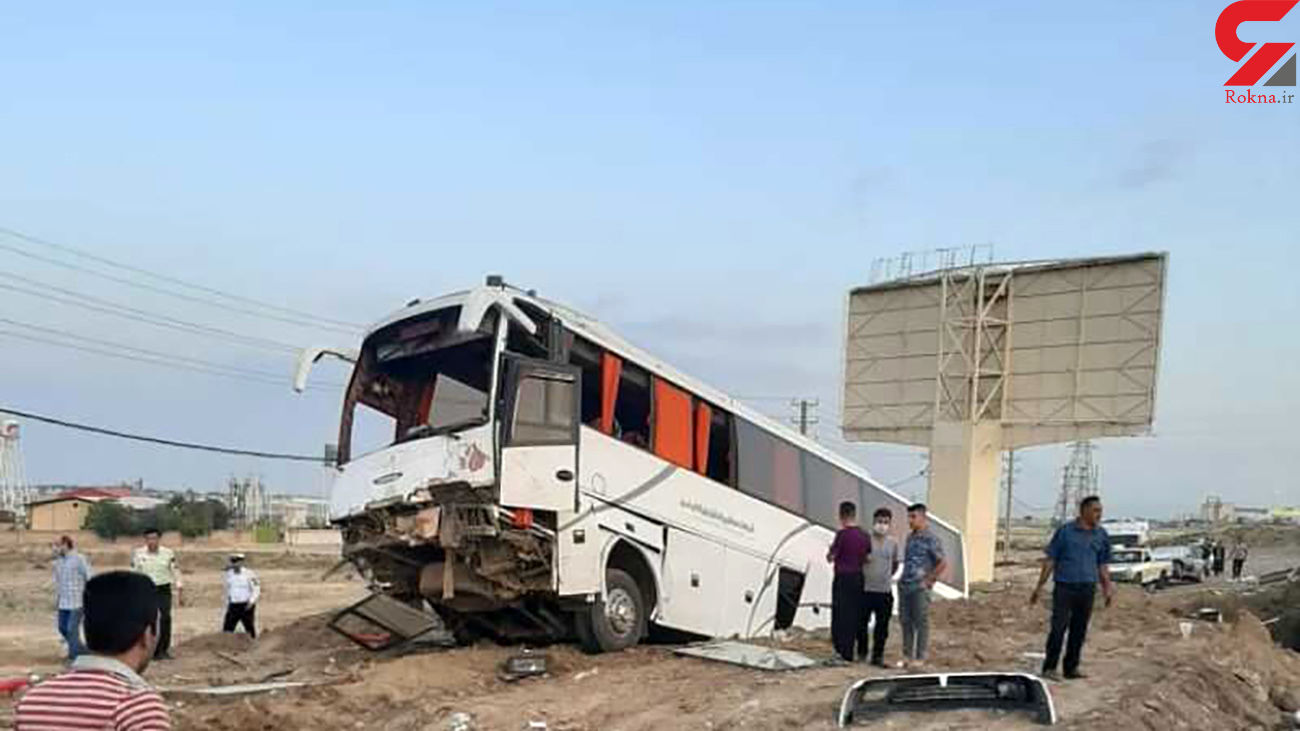 تصادف خونین اتوبوس و تریلی در سبزوار / صبح امروز رخ داد