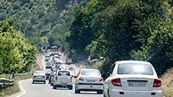 ترافیک در  جاده چالوس و هراز / باران در اردبیل، گلستان و مازندران