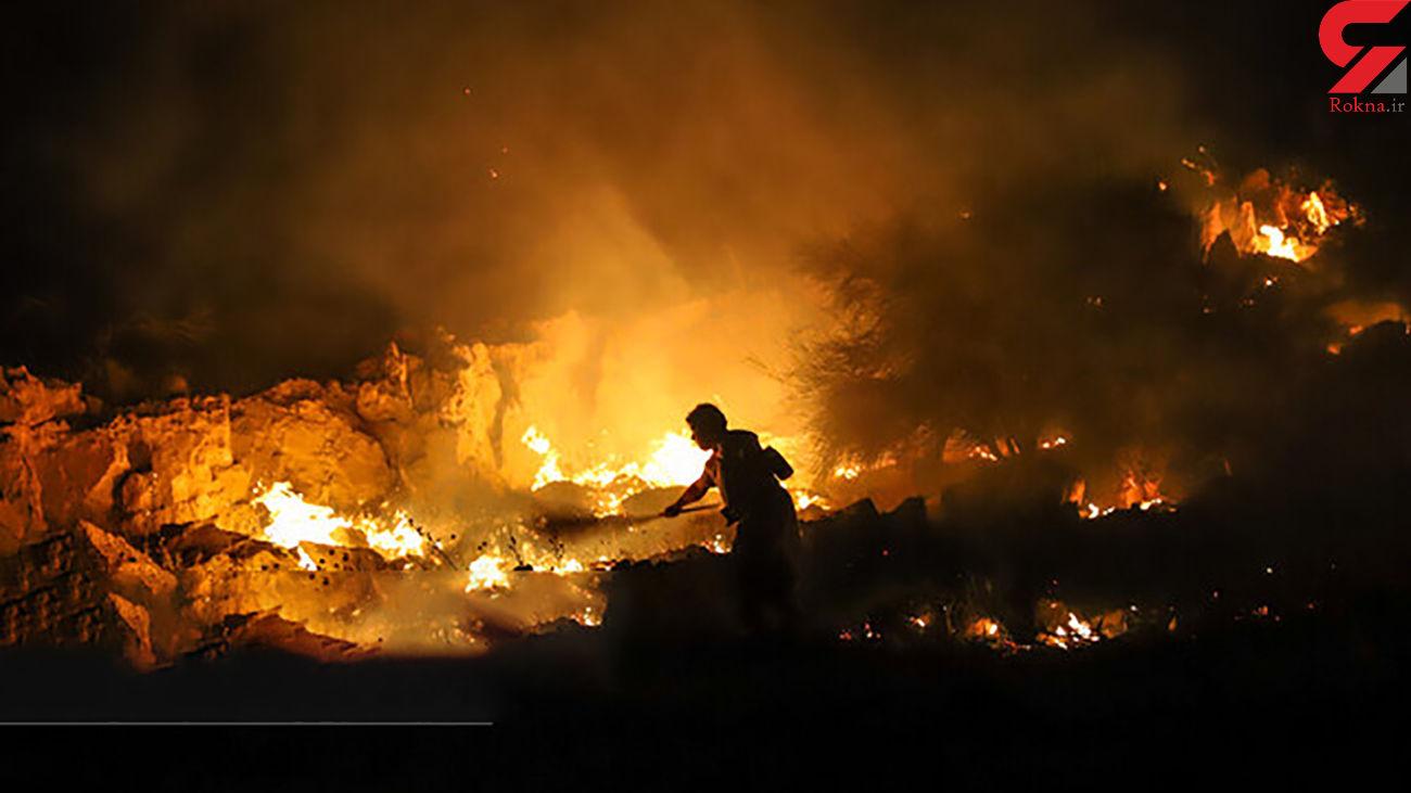 در آتش سوختن 10 هکتار اراضی کشاورزی  آبیک