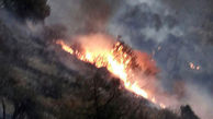 کوههای «کول چپ» پلدختر آتش گرفت