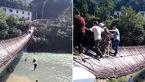 15 زخمی با سقوط پلی در چین +فیلم