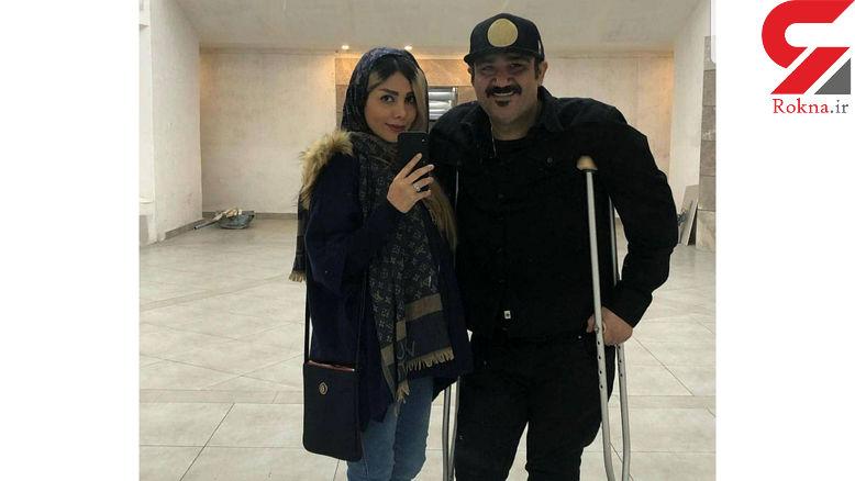 مهران غفوریان با همسرش بعد از عمل جراحی+ عکس