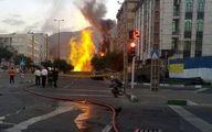 وسط خیابان فرو نشست و ناگهان همه جا آتش گرفت / در فردیس رخ داد + عکس
