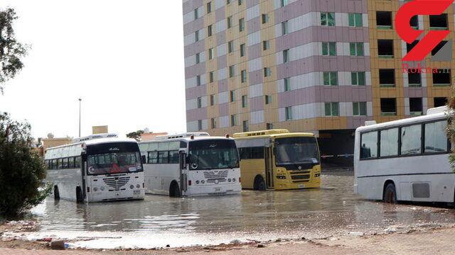 بارش شدید باران مدارس امارات را تعطیل کرد