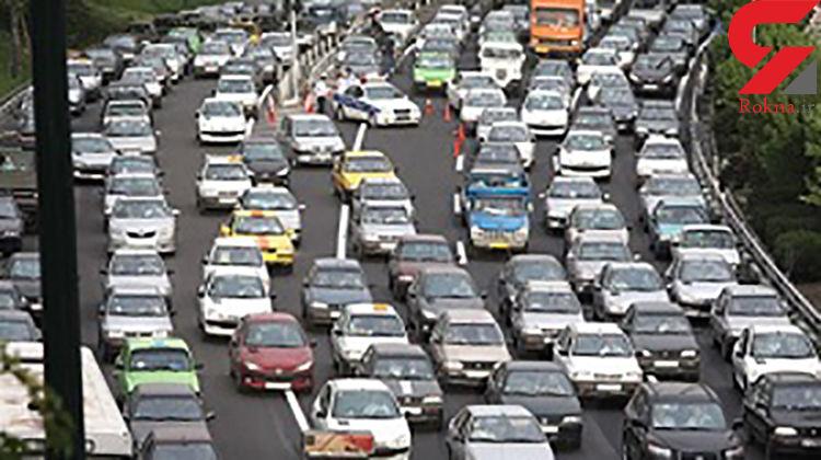 ترافیک صبحگاهی در محورهای حکیم، همت و شیخ فضل الله نوری