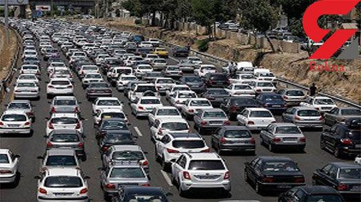 ترافیک در آزادراه کرج-تهران سنگین است/ بارش برف و باران در استانهای اصفهان، البرز و تهران
