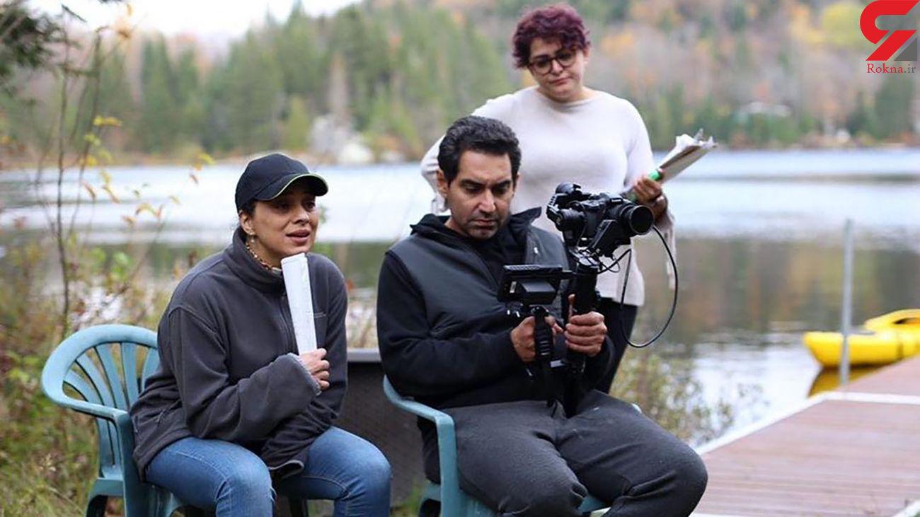 روشنک عجمیان در حال فیلمسازی در کانادا + عکس