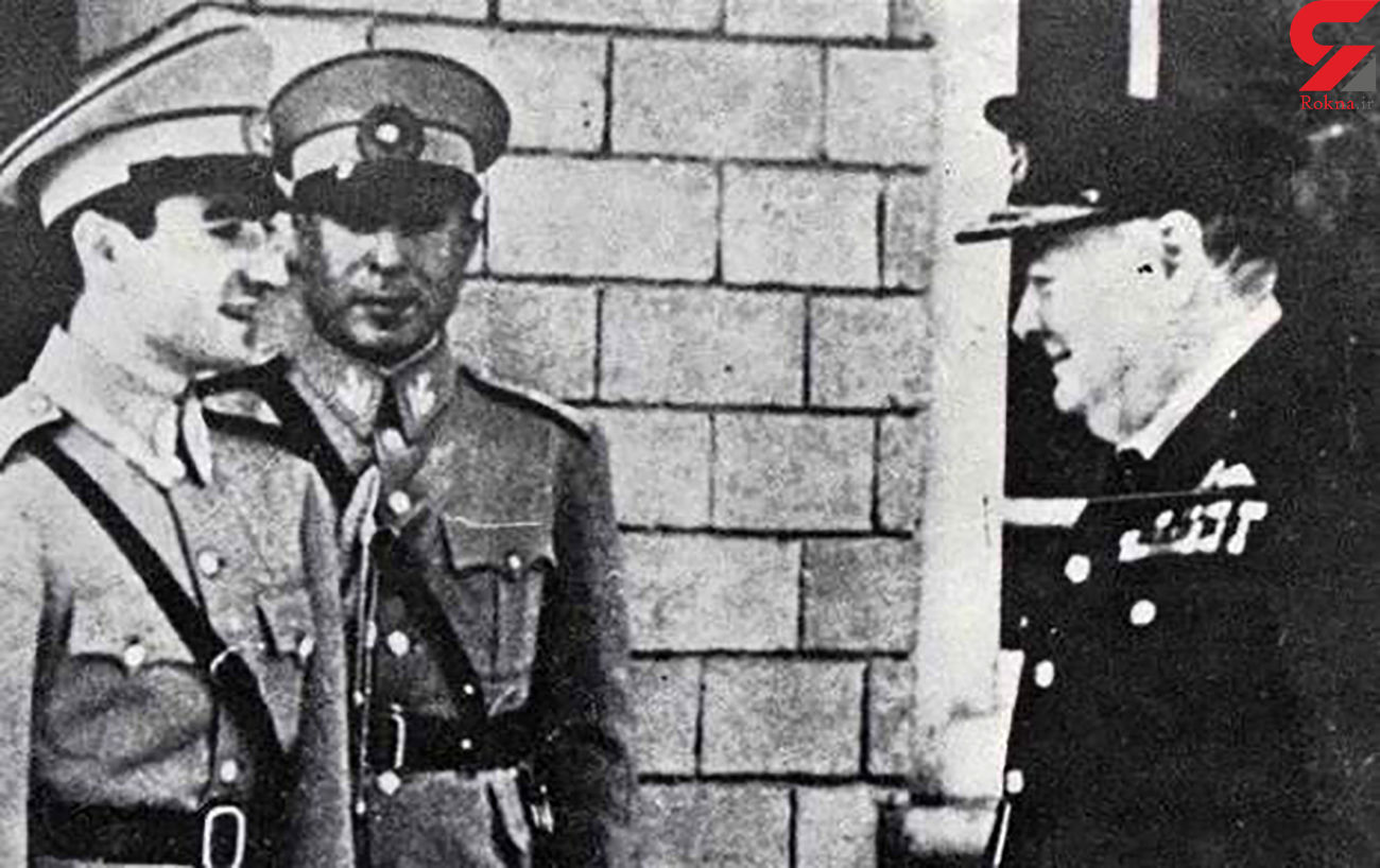 عکس شاه پهلوی با چرچیل/ تا سیگار میکشم حرف بزن!