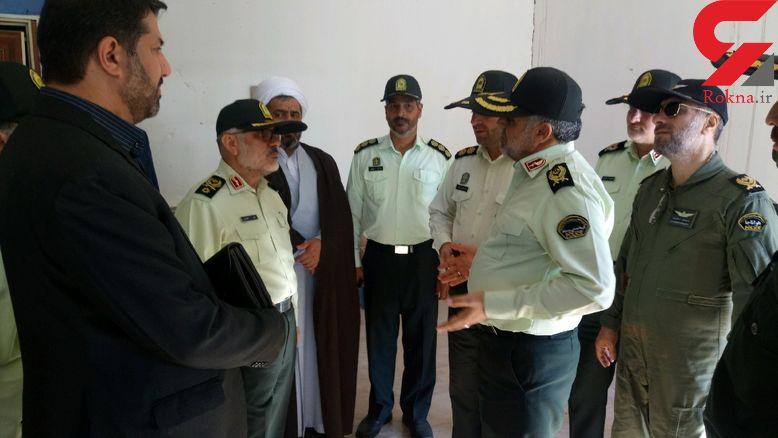 بازدید جانشین فرمانده ناجا از محل حادثه تروریستی چابهار