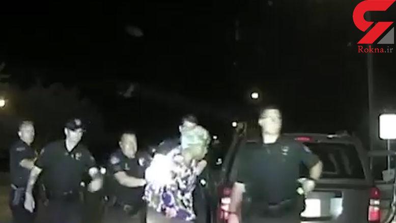 رفتار وحشیانه پلیس آمریکا با زن 65 ساله + فیلم