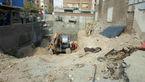 ریزش مرگبار چاه در خیابان انقلاب + عکس