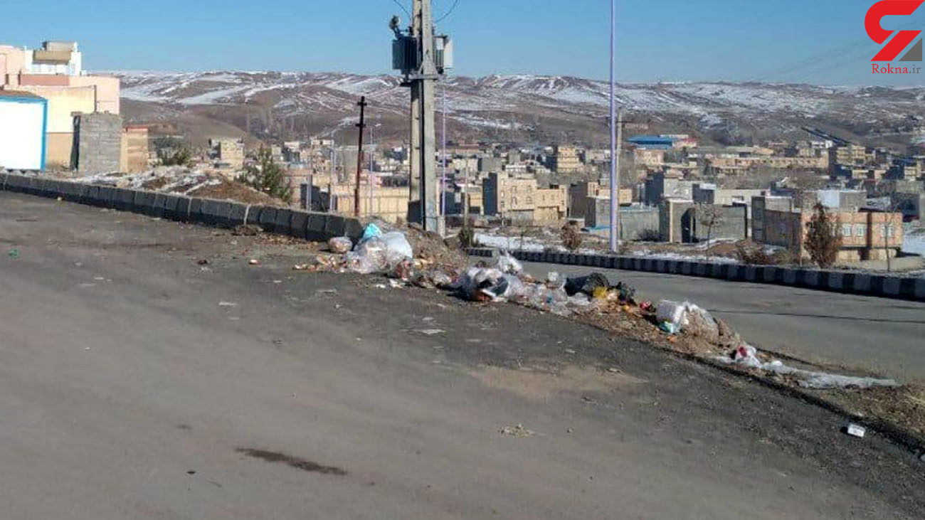 زباله های رها شده وسط مسکن مهر هشترود / شهرداری خواب است! + عکس