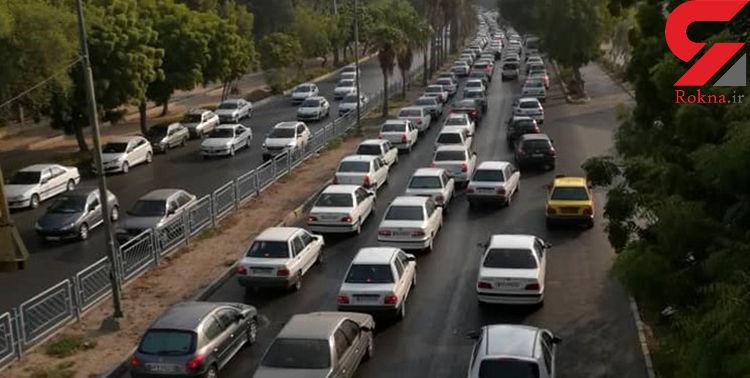 ترافیک سنگین در آزادراه قزوین _ کرج _ تهران