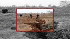 وحشتناکترین عکس از شکاف خوردن زمین در اراک + جزییات