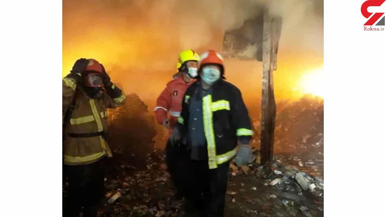 آتش سوزی هولناک در انبار داروهای قاچاق در دماوند  + فیلم