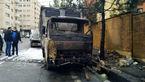 آتش سوزی در خیابان آجودانیه + عکس