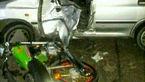 عکسی عجیب از یک تصادف در جاده شمالی + عکس