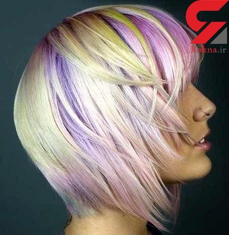 رنگ موی پاستیلی مد جدید زنان