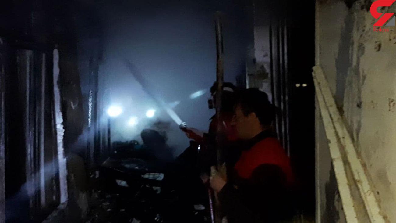 ماشین آتش نشانی با مخزن خالی آب آمد / خانه کامل سوخت + فیلم گلپایگان