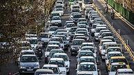 ترافیک صبحگاهی در محور غرب به شرق بزرگراههای همت، حکیم و نواب