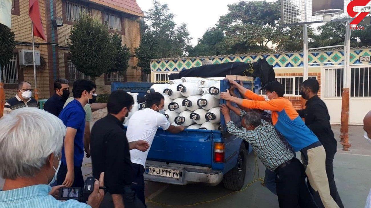 تبدیل مدرسه به پایگاه رایگان توزیع کپسول اکسیژن در مشهد + عکس