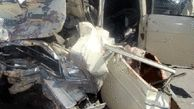 یک کشته و 6 مجروح حاصل برخورد 4 خودرو  در فارس