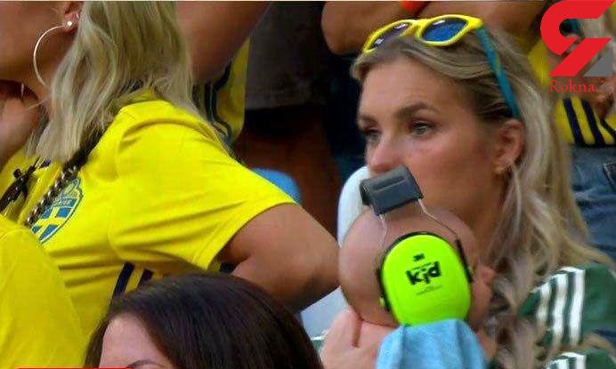 فسقلی ترین تماشاگر فوتبال سوئد و انگلیس+عکس