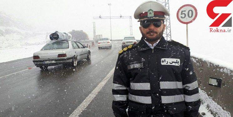 کولاک محور فیروزکوه به سمنان را مسدود کرد