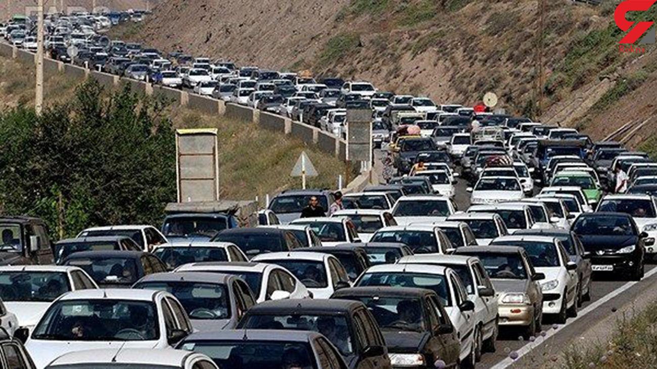 تردد در چالوس یکطرفه شد / ترافیک در بخش هایی از هراز و چالوس